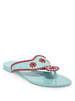 Jack Rogers - Bahamas Thong Jelly Sandals/Aqua