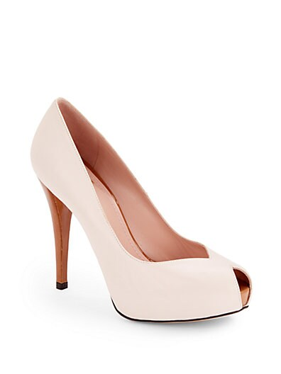 Vamp Patent Leather Platform Pumps
