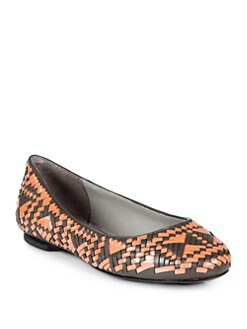 Rebecca Minkoff - Uma Woven Leather Ballet Flats