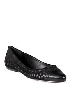 Rebecca Minkoff - Irene Suede & Leather Ballet Flats/Black