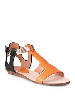 Rebecca Minkoff - Bardot Colorblock Flat Sandals