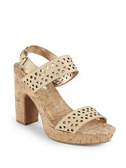 Rebecca Taylor - Terry Cutout Leather Platform Sandals