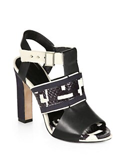 Rachel Roy - Faye Mixed Media Platform Sandals