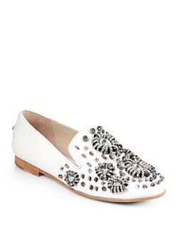 Rachel Roy - Garett Bejeweled Smoking Slippers