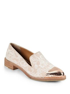 Rachel Roy - Lane Lace & Metal Smoking Slippers