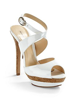 Alexandre Birman - Patent Leather Double Platform Cork Sandals