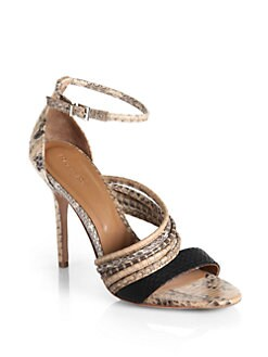 Rachel Roy - Luna Snakeskin-Printed High Heel Sandals