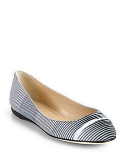Calvin Klein Collection - Elissa Optical Print Ballet Flats/Grey