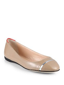 Calvin Klein Collection - Patent Leather  Ballet Flats