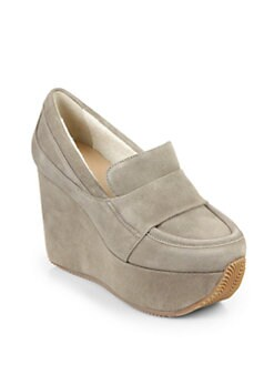 Calvin Klein Collection - Matea Suede Wedge Pumps