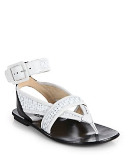 Calvin Klein Collection - Liann Woven Flat Thong Sandals