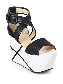 Calvin Klein Collection - Pauline Weave Platform Wedge Sandals