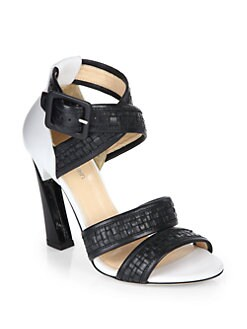 Calvin Klein Collection - Vera Weave Sandals/Black