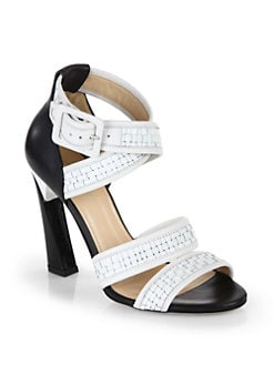 Calvin Klein Collection - Vera Weave Sandals/White