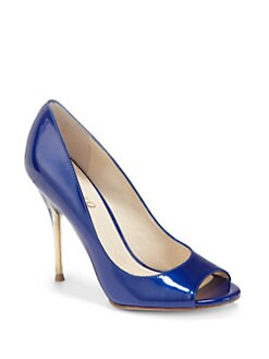 Boutique 9 - Delilah Peep-Toe Patent Pumps