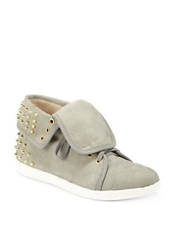 Boutique 9 - Katreen Studded Leather Foldover Sneakers