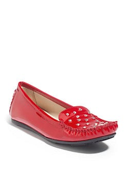 Stuart Weitzman - Chips Patent Leather Moccasins