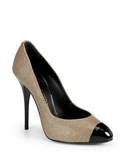 Giuseppe Zanotti - Lizard Skin-Print Cap Toe Pumps
