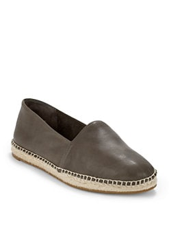 Eileen Fisher - Glide Leather & Espadrille Loafers/Slate
