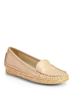 Stuart Weitzman - Geek Patent Leather Loafers