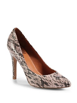 Pour La Victoire - Quinn Snakeskin-Print Pumps