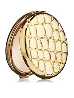 Estee Lauder - Golden Alligator-Print Slim Compact Pressed Powder