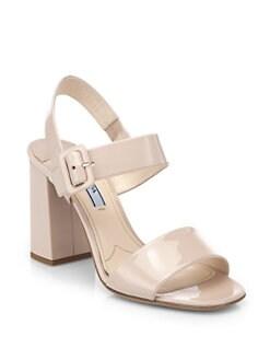 Prada - Patent Leather Sandals