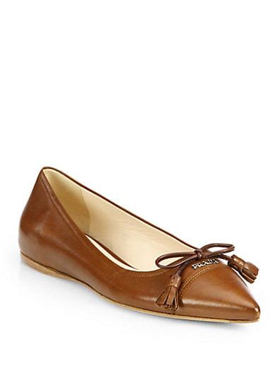 Nappa Leather Point-Toe Flats
