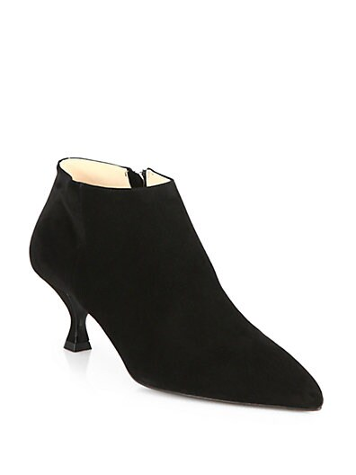Suede Point-Toe Ankle Boots