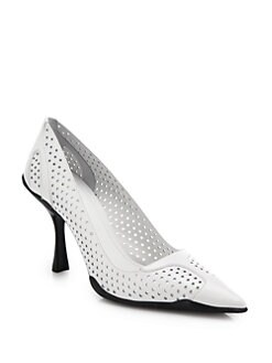 Prada Perforated Leather Pumps