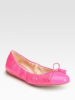 Prada - Patent Leather Ballet Flats