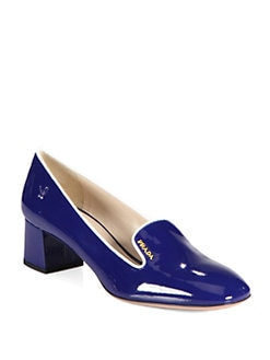 Prada - Patent Leather Smoking Slipper Pump