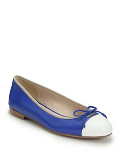 Prada - Two-Tone Leather Ballet Flats