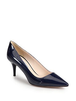 Prada - Patent Leather Point-Toe Pumps