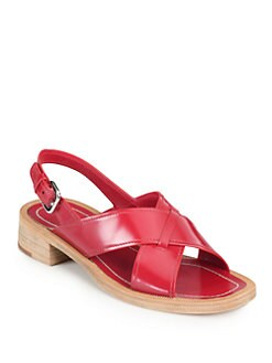 Prada - Crisscross Slingback Sandals