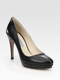 Prada - Leather Platform Pumps