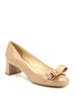Prada - Patent Leather Bow Pumps