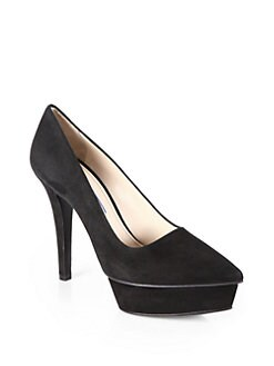 Prada - Suede Platform Pumps