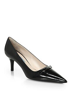 Prada - Logo-Detailed Leather Pumps