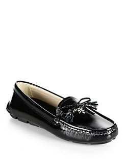 Prada - Patent Leather Bow Drivers