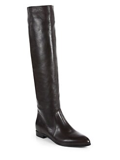 Prada - Leather Knee-High Boots