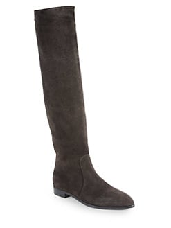 Prada - Suede Knee-High Boots