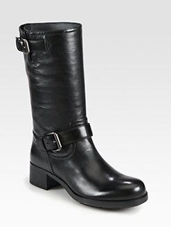 Prada - Leather Motorcycle Boots
