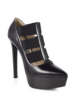 Prada - Leather Banded Platform Pumps