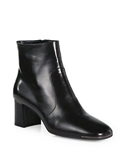 Prada - Leather Ankle Boots