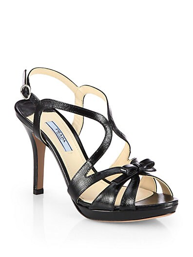Patent Leather Crisscross Bow Sandals