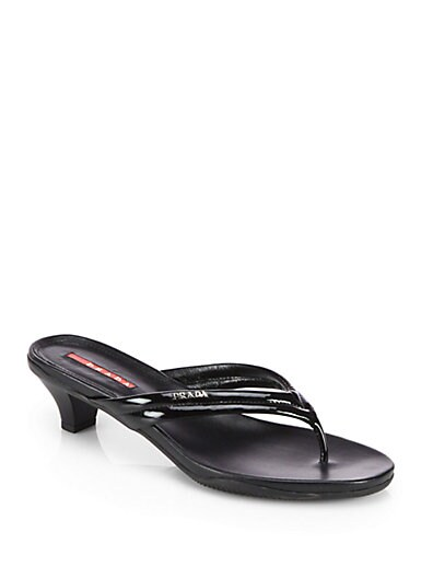 0ea42e0fc Prada Patent Leather Thong Sandals on PopScreen