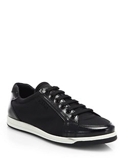 Prada - Saffiano Patent Leather Sneakers