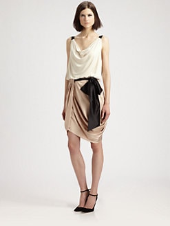 Fashion Star - Draped Mini Dress by Silvia Arguello