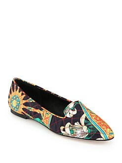 Dolce & Gabbana - Quilted Silk Twill Smoking Slippers